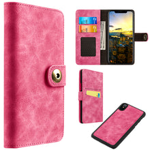 Load image into Gallery viewer, APPLE IPHONE X LUXURY COACH LITE SERIES FLIP WALLET CASE - PINK