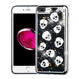 CUTE SKULLS BLACK lLIQUID GLITTER CASE