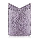 UNIVERSAL ADHESIVE LEATHER DUAL V-SHAPE CARD SLEEVES - LIGHT PURPLE