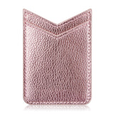 UNIVERSAL ADHESIVE LEATHER DUAL V-SHAPE CARD SLEEVES - ROSE GOLD