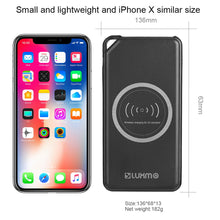 Load image into Gallery viewer, UNIVERSAL 8000 MAH PORTABLE POWER BANK DUAL USB OUTPUT WITH WIRELESS CHARGING FUNCTION - BLACK