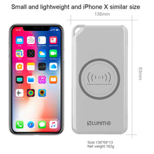 Load image into Gallery viewer, UNIVERSAL 8000 MAH PORTABLE POWER BANK DUAL USB OUTPUT WITH WIRELESS CHARGING FUNCTION - WHITE