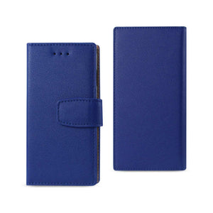 BULLHIDE LEATHER WALLLET ROYAL BLUE