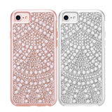 APPLE IPHONE DIAMOND PEARL PLATINUM COLLECTION HYBRID BUMPER CASE
