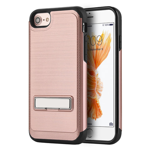 SILKEE MAG-STAND ANTI SHOCK PC + TPU HYBRID CASE - ROSE GOLD