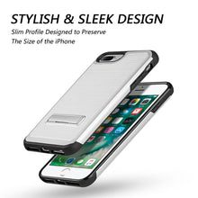 Load image into Gallery viewer, APPLE IPHONE SILK TECH MAG-STAND HYBRID CASE