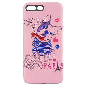 THE ART POP SERIES 3D EMBOSSED PRINTING HYBRID CASE FOR IPHONE DOG