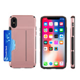 APPLE IPHONE X CARD TO GO II HYBRID CASE PC + TPU WITH CARD SLOT - ROSE GOLD