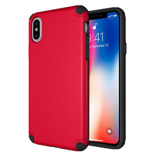 Load image into Gallery viewer, APPLE IPHONE X TITAN ANTI-SHOCK HYBRID PROTECTION CASE - RED