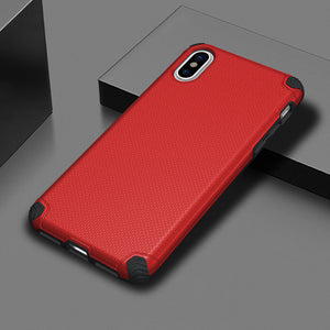 APPLE IPHONE X TITAN ANTI-SHOCK HYBRID PROTECTION CASE - RED