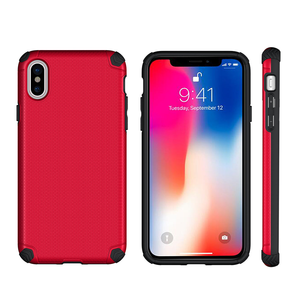 new concept ae51e 04c4e APPLE IPHONE X TITAN ANTI-SHOCK HYBRID PROTECTION CASE - RED