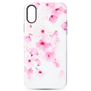ART POP SERIES 3D EMBOSSED PRINTING HYBRID CASE FOR IPHONE PINK FLOWER