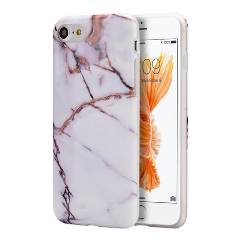 APPLE IPHONE 7 MARBLE IMD SOFT TPU CASE-GOLD