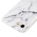 APPLE IPHONE 7 MARBLE IMD SOFT TPU CASE-WHITE