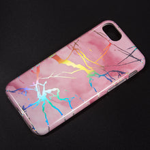 Load image into Gallery viewer, THE LIGHTNING MARBLE IMD SOFT TPU CASE FOR IPHONE 8 / 7 / 6 - PINK
