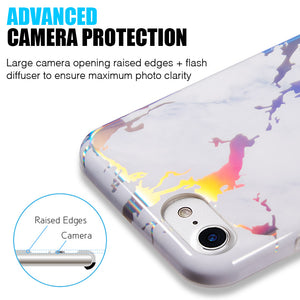 THE LIGHTNING MARBLE IMD SOFT TPU CASE FOR IPHONE 8 / 7 / 6 - WHITE