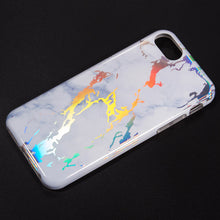 Load image into Gallery viewer, THE LIGHTNING MARBLE IMD SOFT TPU CASE FOR IPHONE 8 / 7 / 6 - WHITE