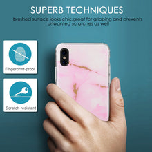 Load image into Gallery viewer, APPLE IPHONE X SPARKLING MARBLE IMD SOFT TPU CASE - PINK