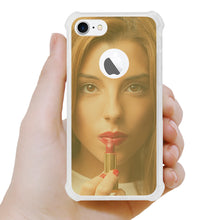 Load image into Gallery viewer, IPHONE MIRROR EFFECT CLEAR CASE WITH AIR CUSHION SHOCK ABSORTION IN GOLD