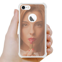 Load image into Gallery viewer, IPHONE MIRROR EFFECT CLEAR CASE WITH AIR CUSHION SHOCK ABSORTION IN ROSEGOLD