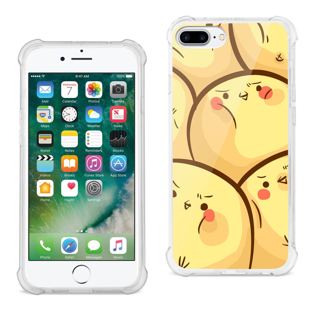 IPHONE 7/8 PLUS CHICK OVERLOAD DESIGN AIR CUSHION CASE IN CLEAR