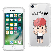 Load image into Gallery viewer, IPHONE 7/8 TRAPPED BOY DESIGN AIR CUSHION CASE IN CLEAR