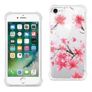 IPHONE 7/8 INK PAINTING CHERRY DESIGN AIR CUSHION CASE IN CLEAR