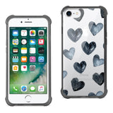 IPHONE 7/8 HEART DESIGN AIR CUSHION CASE IN CLEAR