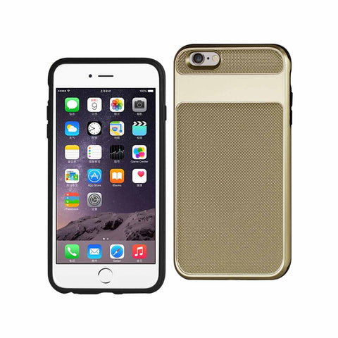 APPLE IPHONE 8/APPLE IPHONE 7 CARBON GRADE HYBRID CASE WITH GOLD FRAME