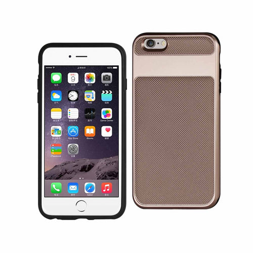 IPHONE 6S PLUS HYBRID SOLID ARMOR BUMPER CASE IN ROSE GOLD