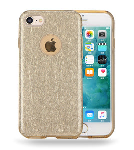 IPHONE GOLD GLITTER TPU CASE