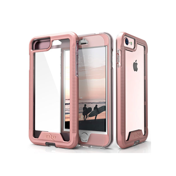 IPHONE 6 / 6S / 7 / 8 - ZIZO ION SINGLE LAYERED HYBRID COVER - ROSE GOLD / CLEAR
