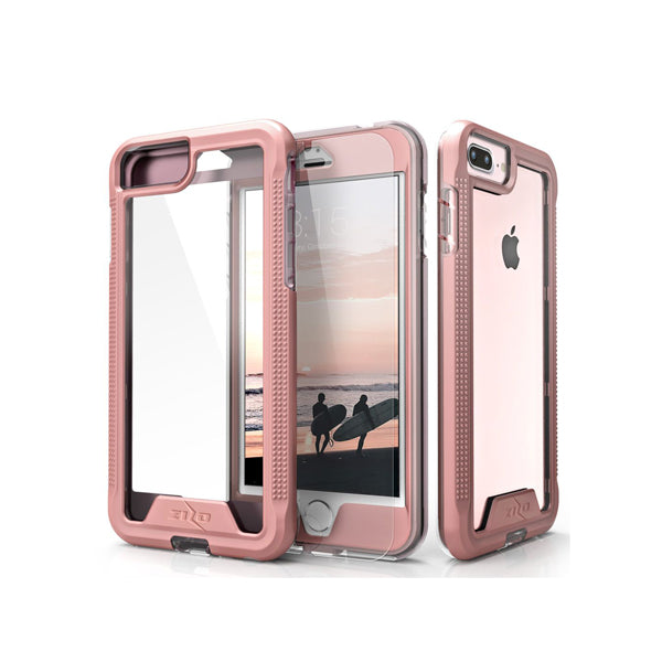 IPHONE 6 PLUS / 6S PLUS / 7 PLUS / 8 PLUS - ZIZO ION SINGLE LAYERED HYBRID COVER - ROSE GOLD / CLEAR