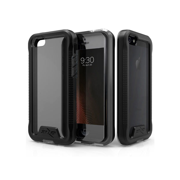 IPHONE 5 / 5S / SE - ZIZO ION TRIPLE LAYERED HYBRID COVER  - BLACK / SMOKE