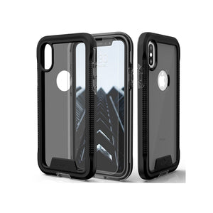 IPHONE XS MAX ZIZO ION TRIPLE LAYERED HYBRID COVER - BLACK / SMOKE