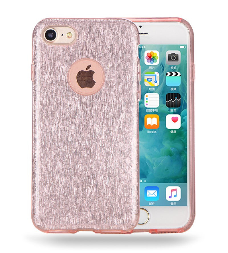 IPHONE PINK GLITTER TPU CASE