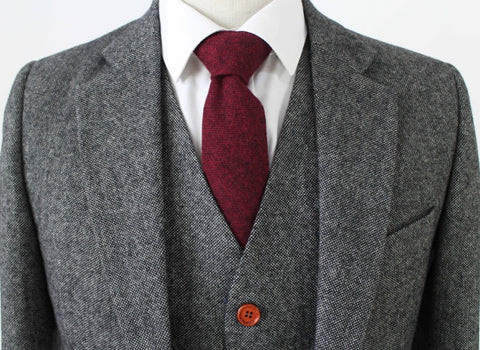 Grey classic tweed suit