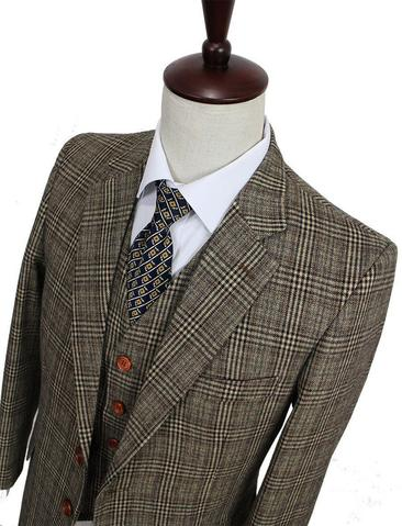 Retro tweed suit