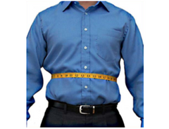 Custom tailored suit belly measuremetn
