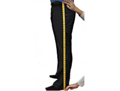 Custom tailored suit trouser length measurement