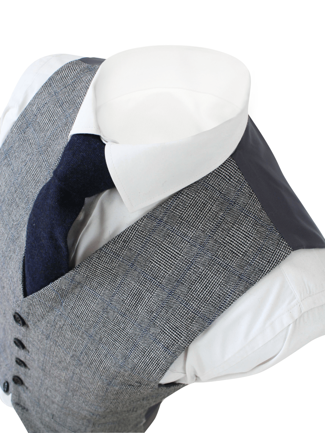 Retro Grey Wool Waistcoat Only USA Clearance