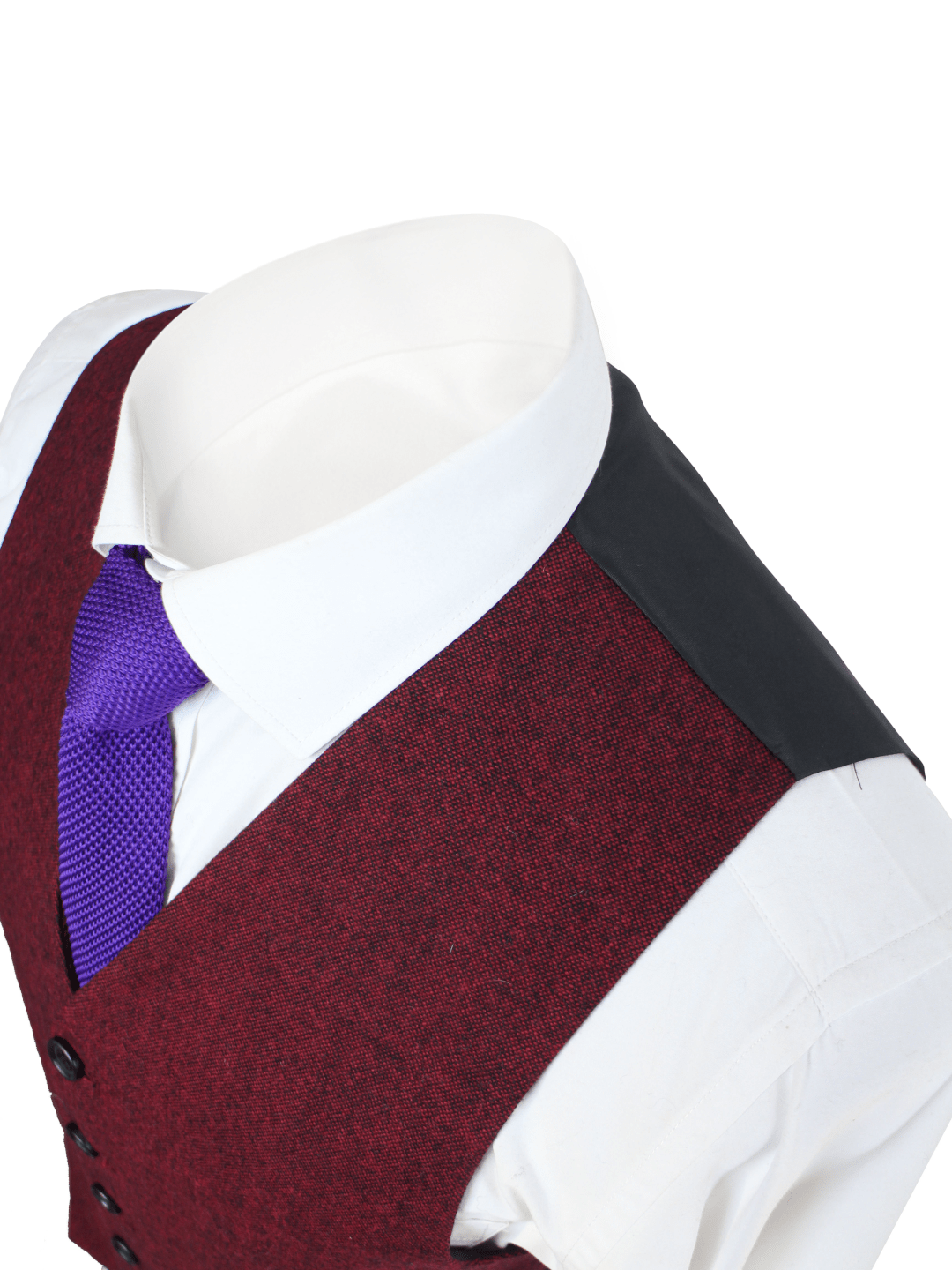 Red Classic Tweed Jacket & Waistcoat Clearance