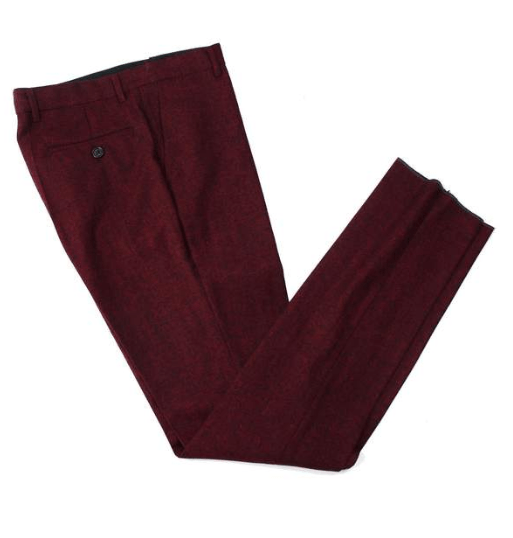 Red Classic Tweed Trousers USA Clearance
