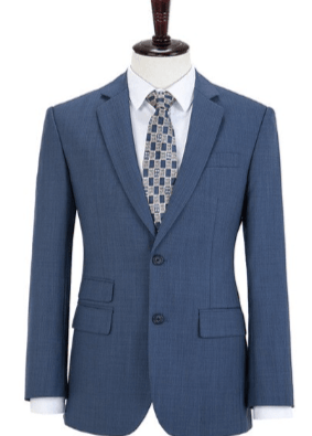 Blue Bayoux 150's Worsted 100% Wool 3 Piece Suit