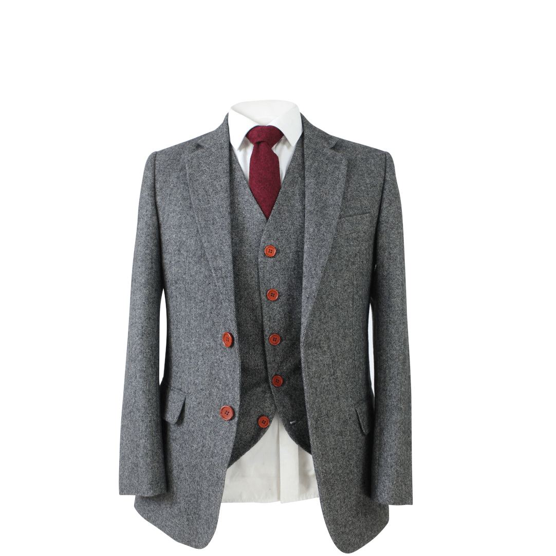 Grey Classic Tweed 3 Piece Suit