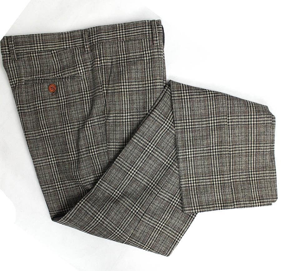 Retro Brown Plaid