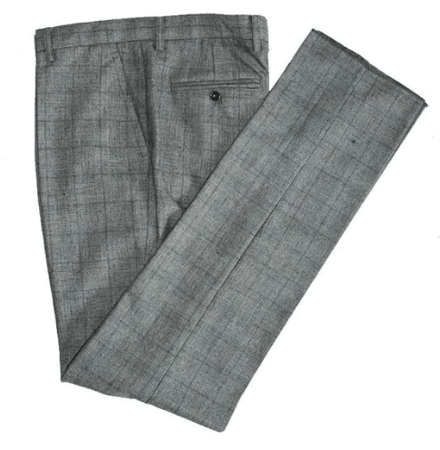 Retro Grey Wool Trousers Only Clearance