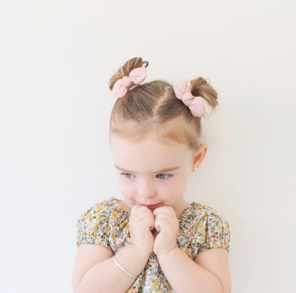 Fabric Bow Hair Tie Set