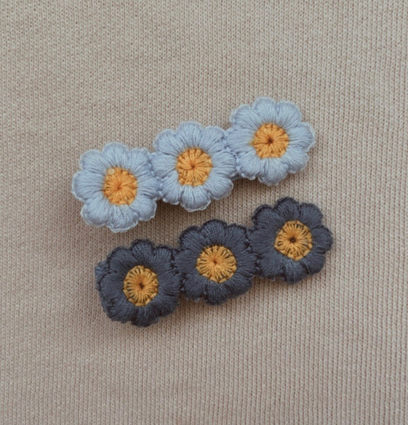 Blue Bloom Flower Clip Set