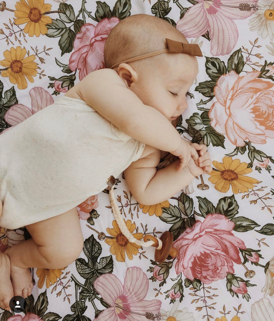 Garden Floral Wrap + Bow Set